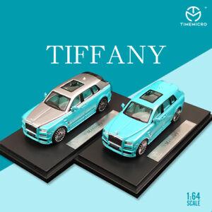 TM1:64 Rolls-Royce Cullinan Tiffany Blue Alloy Simulation Car Model Collection