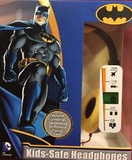 BATMAN Headphones DC COMICS Kid Safe Volume Control ADJUSTABLE OVER EAR
