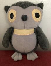 "KOHLS CARES FOR KIDS GRAY OWL 10"" FUZZY SOFT PLUSH AESOP'S FABLES HOOTY OWL"