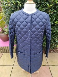 Uniqlo Ultra Light Down Quilted Collarless Coat XL Blue