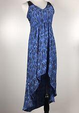 Express Women's Sleeveless Maxi Dress Lace Backless Blue Size S