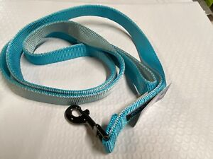 Top Paw Double Strength Two Sided  Blue Gun Metal dog leash 4 ft.
