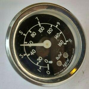 """Smiths Pressure Gauge - Classic Car part 0-11lb - Oil Meter Air Vintage 2"""" [5cm]"""