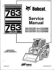 BOBCAT 763 service and repair manual in 3 ring binder
