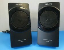 Sony SRS-D4 2.1 Computer Monitor Satellite Speakers Right and Left