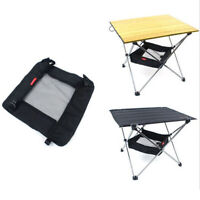 Camping Picnic Folding Table Storage Grid Outdoor Kitchen Storage Bag -Small