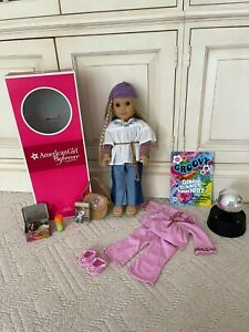 American Girl Doll Julie Albright doll, box, clothing and accessories