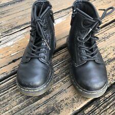 Dr Martens Docs Brooklee Boots Black Leather Airwair 8 UK 7 EU 24 Toddler Shoes