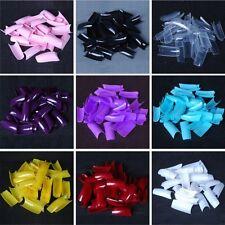 9 Color 500 x False Style Fake Nail Art Half Acrylic Artificial UV Gel Tips Kit