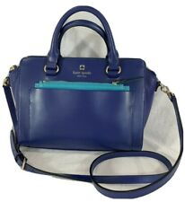 KATE SPADE New York Blue Leather Satchel Crossbody Shoulder Bag