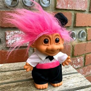Troll Doll Groom by Russ • Collectible Toy • Vintage 1990s • Getting Married VTG
