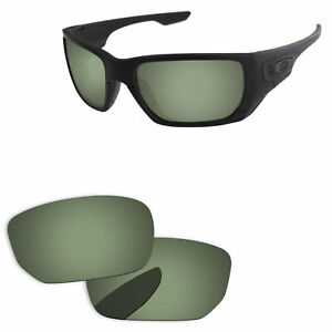PapaViva Green Black Polarized Replacement Lenses For-Oakley Style Switch OO9194