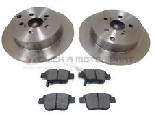 REAR BRAKE DISCS & PADS SET NEW FOR TOYOTA AVENSIS VERSO 2.0 D4D 2.0 VVTI 02-05