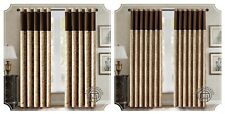 LUXURY JACQUARD Curtains Fully Lined Ready Made Ring Top & Pencil Pleat Curtains