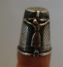 Ancien Dé à coudre en argent Christ / French silver Thimble / Couture religion