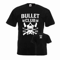 New Japan Pro-Wrestling Bullet Club Bone Soldier WWE Black T-shirt Mens Kids