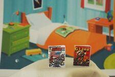 2 Miniature Vintage Opening 'G I Joe ' Comics - Dollhouse 1:12 scale