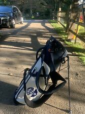 New listing NICE Stitch SL2 Colorblock Blue White Golf Stand Bag Double Strap Rain Hood