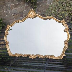 Rococo Gilt Framed Wall Mirror Overmantel (Louis XV Italian)