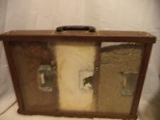 Amazing Old Electrical/Installation Wood Salesman Sample Display Case
