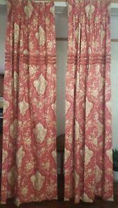 "2 ~ Drapes Custom Victorian Romantic Lovers Floral Loop Fringe Detail 102""x 25"""