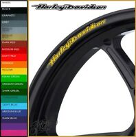 12 x HARLEY DAVIDSON Wheel Rim Decals Stickers - 20 colors - road king glide
