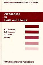 MANGANESE in SOILS & PLANTS geochemistry biochemistry physiology toxicity