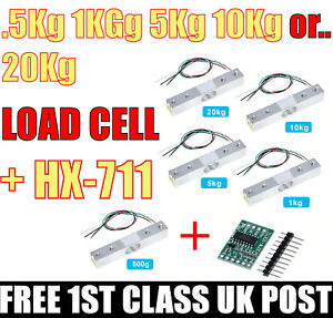 Load Cell 100g 1, 5, 10, 20kg Weight Scale Sensor + HX711. How to Use Video link