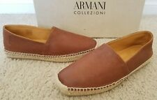 Brand NIB Auth Armani Collezioni Loafer Sneakers Shoes Brown Sz 40/7 Gorgeous