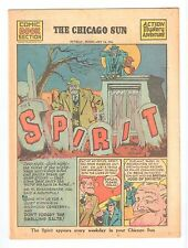THE SPIRIT weekly newspaper comic Chicago Sun Sunday Feb 14 1943 vintage comic