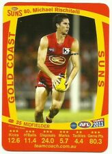 2011 AFL TEAMCOACH GOLD COAST SUNS MICHAEL RISCHITELLI 80 COMMON CARD free post