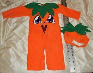 12-18 month Toddler Pumpkin Costume-Disguise, Tiny Treats-1 pcs Suit & Hat