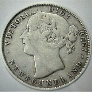 1881 Newfoundland/Canada Silver 20 Cents ICG VF20 Condition  (746)