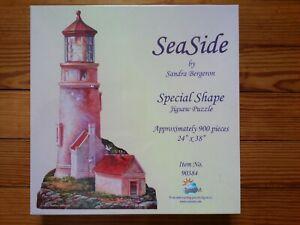 SEALED SunsOut Seaside Puzzle Lighthouse SHAPED Sandra Bergeron 900 pc USA