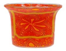 Leuchtglas Teelichtglas Fc16 orange Star
