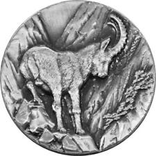 2014 Niue Swiss Wildlife Capricorn $2 Two Dollar Silver Proof Coin Box Coa