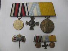 Ordensnachlass am Band Spange mit Miniaturen Top Zustand WW Preussen Feldzug