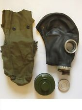 Soviet russian military Gas mask GP-5 black rubber new full set. Size 1