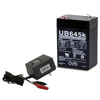 UPG 6V 4.5 AH Replacement for WILDGAME INNOVATIONS 6 VOLT 4.5AMP with Charger