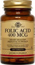 Solgar Folic Acid 400mcg 100 Tablets