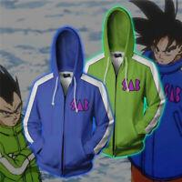 Dragon Ball Z Super Goku Vegeta 3D Print Hoodie Sweatshirt Zipper Jacket Coat
