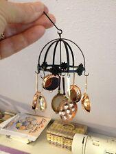 Dollhouse Miniature Copper HANGING POT RACK w/POTS - Artisan -  1:12 Sc