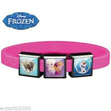 FROZEN ROXO SMALL Pink SILICONE BRACELET (3 Charm) ~ Birthday Party Supplies