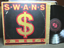 Swans Greed PVC8949 lp Gira Sonic Youth goth industrial '86 punk ministry rare!