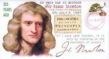 """COVERSCAPE computer designed Issac Newton's """"Principia"""" 325th anniversary cover"""