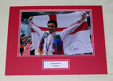 TOM DALEY DIVING HAND SIGNED AUTOGRAPH 16X12 PHOTO MOUNT