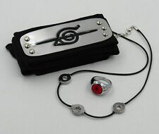 HEADBAND RING NECKLACE ITACHI AKATSUKI NARUTO COSPLAY TEAM ALBA MANGA ANIME #2