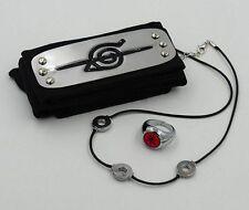 HEADBAND RING NECKLACE ITACHI AKATSUKI NARUTO COSPLAY TEAM ALBA MANGA ANIME #2