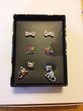 $26.00 Macy's Alice Through The Looking Glass Multi 3-pc Earrings Set L&T Bin