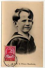 PRINCE BAUDOUIN King PC Postcard BELGIUM Belgian ROYALS Royalty ROYAL Child